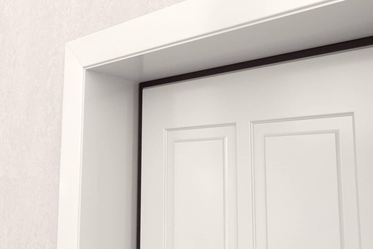 оформление откосов межкомнатных дверей фото оформленная